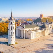 Vilnius Cathedral Square - How to get from Riga to Vilnius