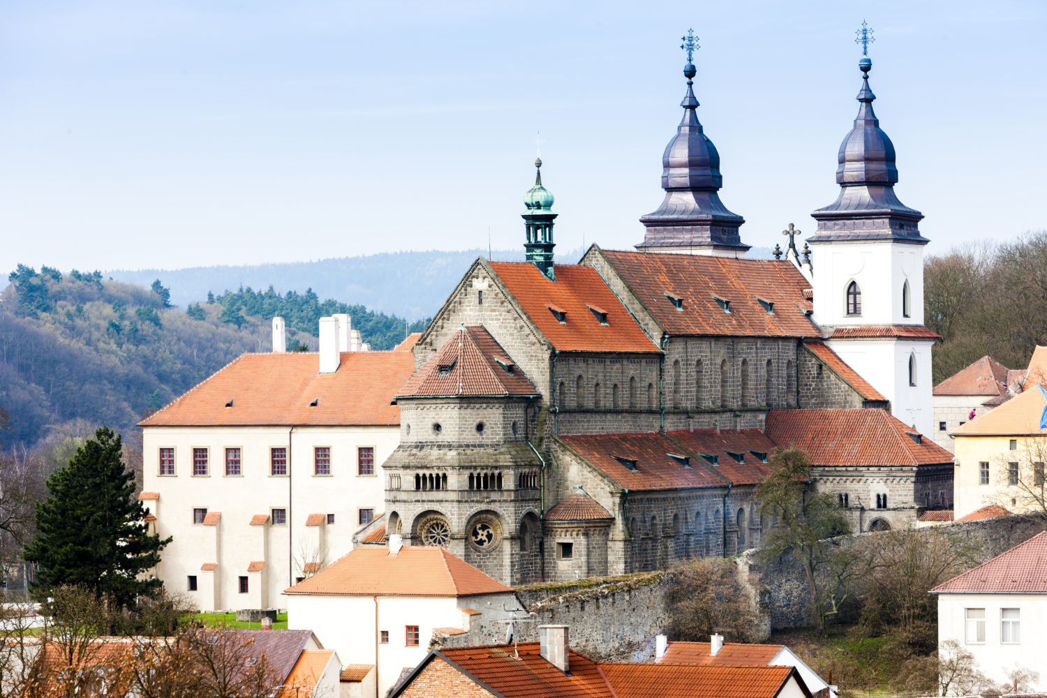 Road trip from Prague to Bratislava through St. Procopius Basilica, Trebic in Czech Republic