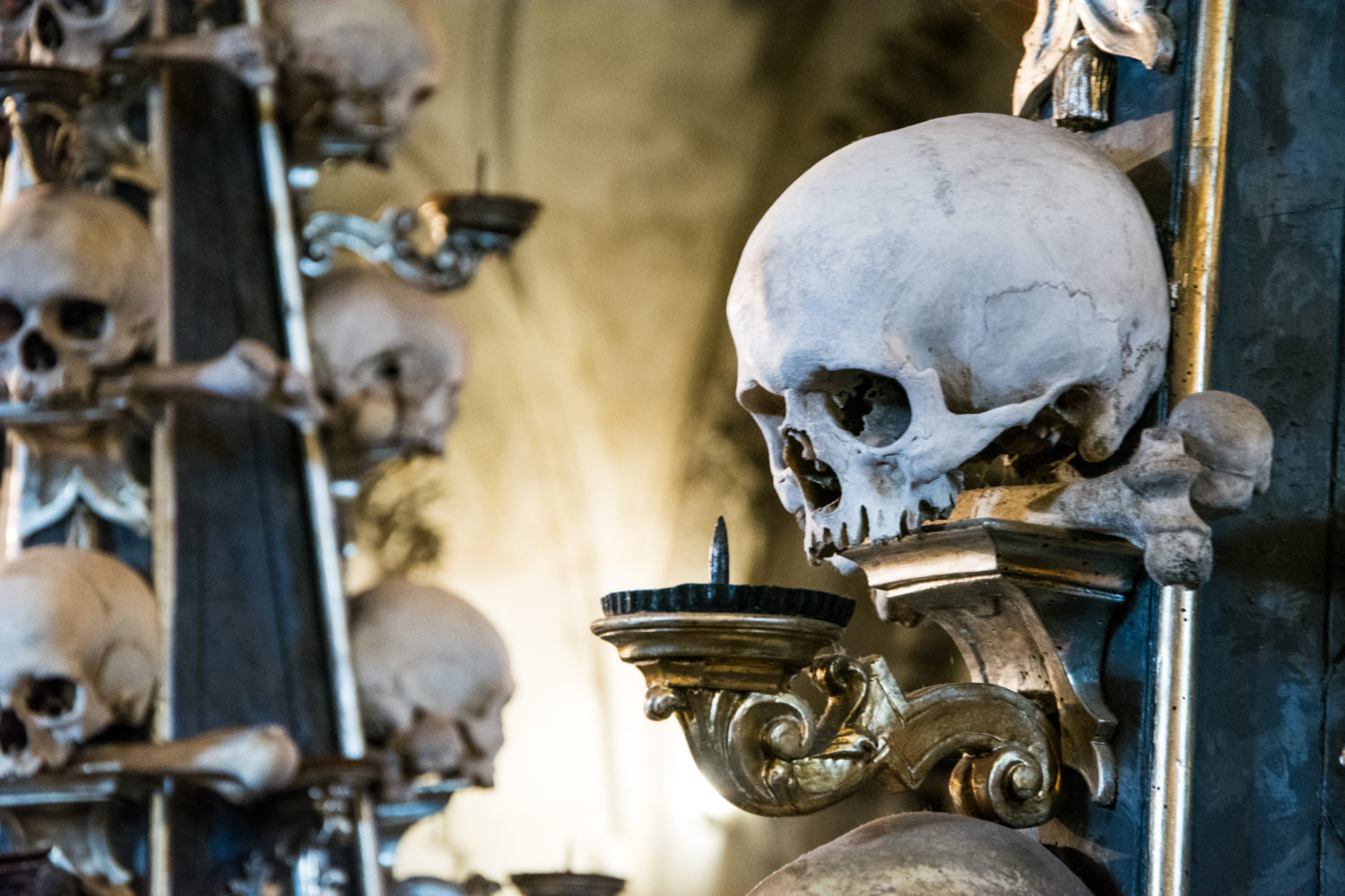 Sedlec Ossuary, Church of Bones in Kutna Hora, Czech Republic that can be visited with a road trip from Prague to Vienna